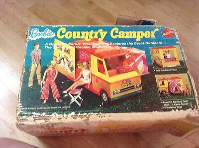 Vintage Barbie Country Camper Mattel