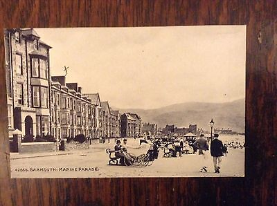 Postcard 42888 BARMOUTH THE MARINE PARADE Wedgwood Series Early 1900's Gd. Cond.
