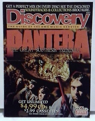 1996 Discovery BMG Music Guide with Pantera on cover-Metal Music Memorabilia