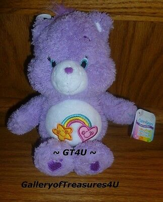 "Care Bears Fluffy Friends Special Edition 8"" Plush BEST FRIEND Purple Rainbow"