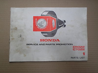 Honda 50 70 C50 C70 C50Z2 C70Z2 genuine parts catalogue 1977 lightly USED