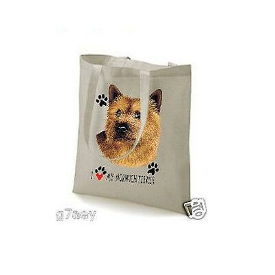 I Love My Norwich Terrier Design Tote Shopping Bag