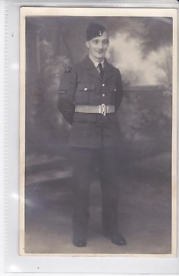 Vintage Military Photo On Postcard Material Soldier.