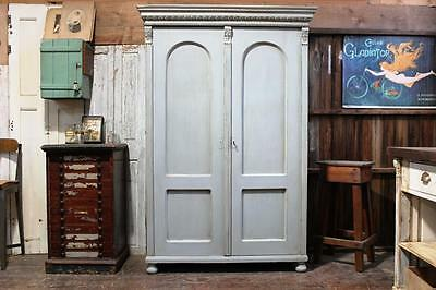Painted Continental Cupboard/Armoire Vintage Victoriana Kitchen
