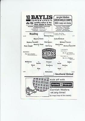 Reading v Southend United League Cup Football Programme 1965/66