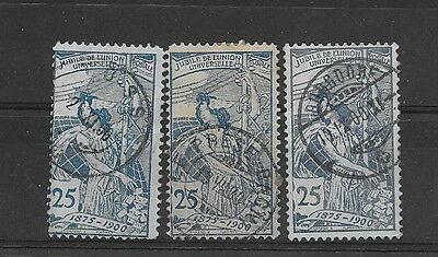 Switzerland. 1900. UPU. 25c. Used (3)