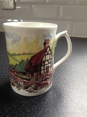 Duchess Fine Bone China Floral Country Garden & House Decorated Mug