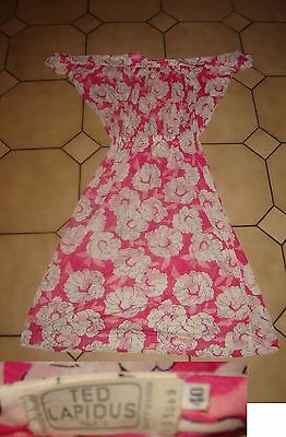 Superbe robe vintage année 70 ted lapidus taille 40