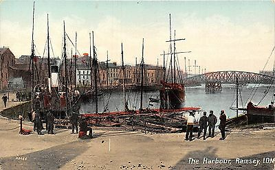 POSTCARD   ISLE  OF  MAN  RAMSEY   The  Harbour