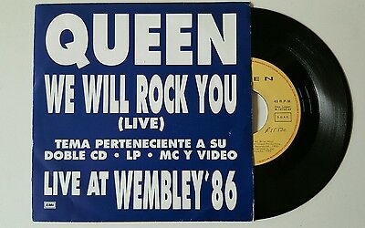 """Queen we will rock you 7"""" unique promo sleeve spanish edition"""