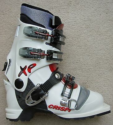 New Crispi Xp Lady White Red Thermo Telemark Boots - 25.5