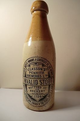 Glassons Penrith Breweries Buchan Stoneware Stout Ginger Beer Bottle