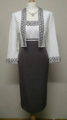 Fab Mother of Bride Dress & Jacket By Gold, Size 12