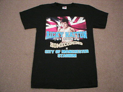 Black T/shirt  Ricky Hatton Homecomming Fight At Mcfc Size S