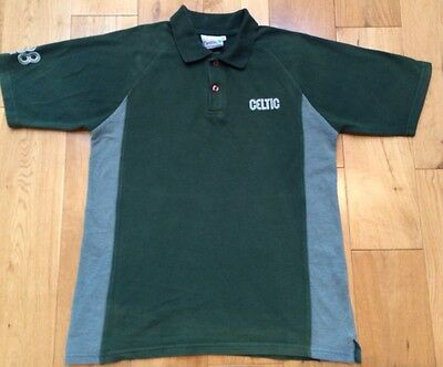 Celtic FC Football Polo Shirt Men's Size Large Green Top