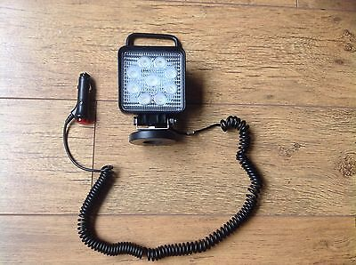 27W LED Magnetic Work Light Square Floodlight Tractor Combine Cattle Trailer