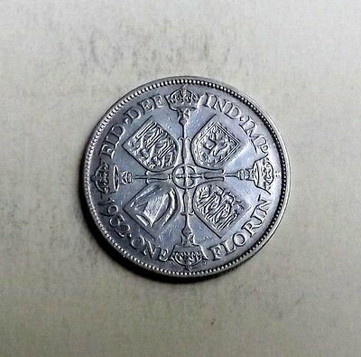 George V 1932 Two-Shilling-Florin[Key Date] Very Nice Rare Coin