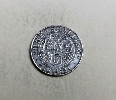 Victoria 1893 Shilling Very Nice Condition Nice Rare Coin