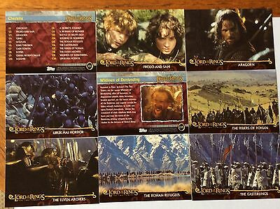 Topps Lord Of The Rings Cards, The Two Towers, Full Set Of 20.