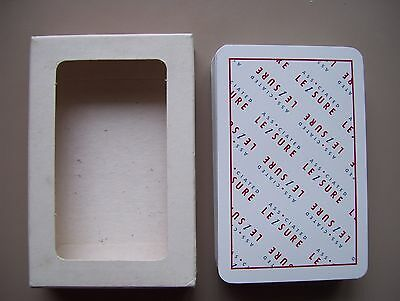 Associated Leisure 100% Plastic Deck Of Playing Cards.(Unused=Mint).