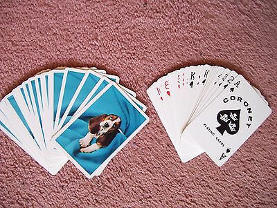 """Coronet 100% Plastic """"dog"""" Deck Of Playing Cards.(Unused=Mint)"""