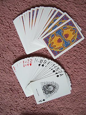 All-Plastic Deck Of Playing Cards.unusual Ace Of Spades.(Unused=Mint)