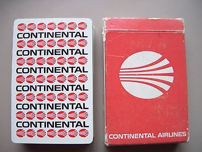 Continental Airlines Deck Of Playing Cards.(Unused=Mint)