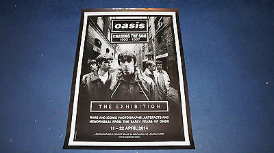 Oasis - Chasing The Sun Exhibition - 2014 UK Promo Poster (Blur Stone Roses)