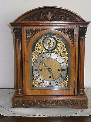 Triple Fusee Musical Westminster Golden Oak  Bracket Clock in G.W.O.