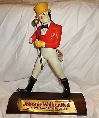 """Johnny Walker Red """"Worlds Favorite Scotch"""" Advertising Statue. Display Whiskey"""