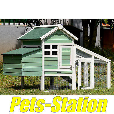 Chicken Coop Rabbit Hutch Ferret Cage Hen Chook House Run