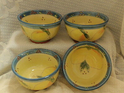 Romancing Provence Collections FOUR Heavy Deep Bowls ~ USA/France ~ NICE!