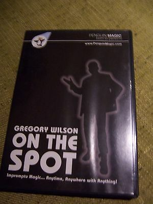 Gregory Wilson - On The Spot.  Magic DVD