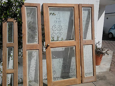 Antique front door, solid wood, burnished glass. Excelent condition,50 years old