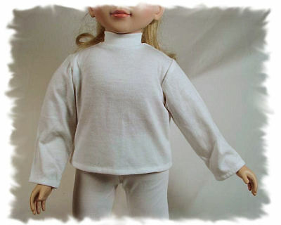 WHITE CHEERLEADER TURTLENECK FOR MY TWINN TWIN DOLL Cyber Monday Special