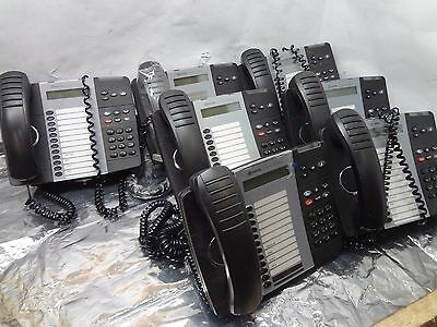 Lot of 7 Mitel 5312 IP Backlit Dual Mode VoIP PoE Telephone Phone }