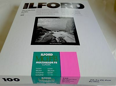 Ilford Multigrade Fibre Based Photo Paper 8x10 pack 100 sheets Gloss finish
