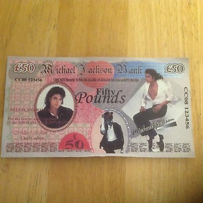 Michael Jackson £50 Note Very Rare from 1988 concert