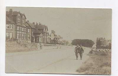 Real Photo Postcard Unknown Street View Location Victorian House Possibly 1920's