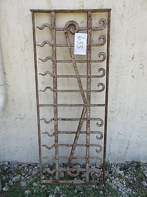Antique Victorian Iron Gate Window Garden Fence Architectural Salvage Door #633