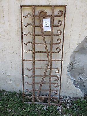 Antique Victorian Iron Gate Window Garden Fence Architectural Salvage Door #634