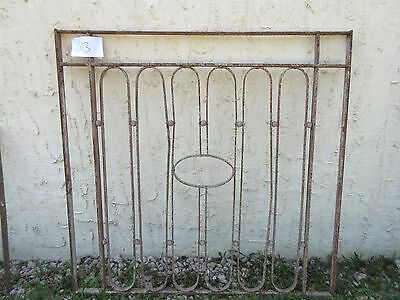 Antique Victorian Iron Gate Window Garden Fence Architectural Salvage Door #613