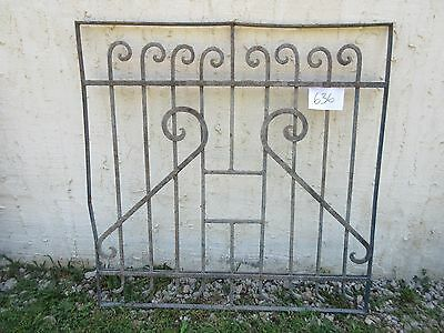 Antique Victorian Iron Gate Window Garden Fence Architectural Salvage Door #636