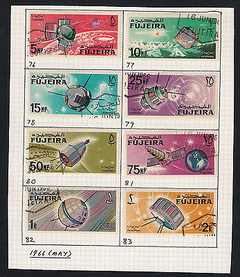 UAE Fujeira - 1966 Space Achievements, SG76/83, used on paper