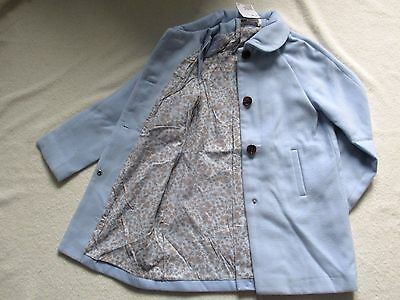 BNWT Girls H&M Winter Formal/Dress Coat 7-8y Collar Ice-Blue Lined Frozen NEW