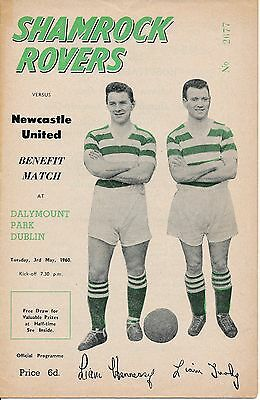 SHAMROCK ROVERS v Newcastle (Joint Testimonial) 1960