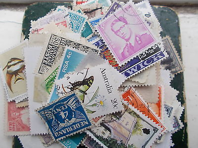 500+ -WORLD STAMPS -all off paper-