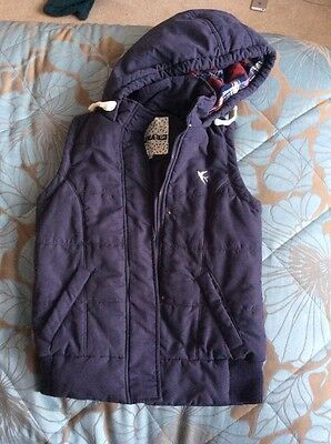 Girls New Look hooded Gilet age 12-13 years - Broken zip