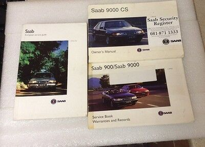 1994 Saab 9000 Saab Scania Owners Manual Literature Pack And Wallet