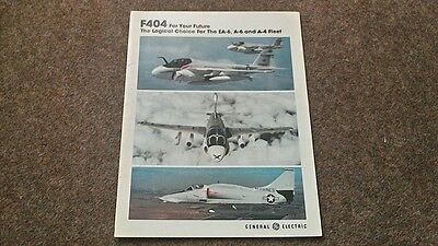 GENERAL ELECTRIC F404 ENGINE BROCHURE c1992 AVIATION AIRCRAFT